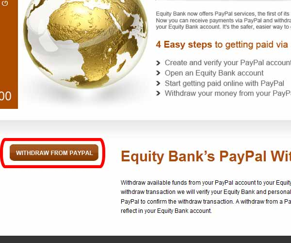 Equity Bank PayPal Withdraw PayPal funds in Kenya