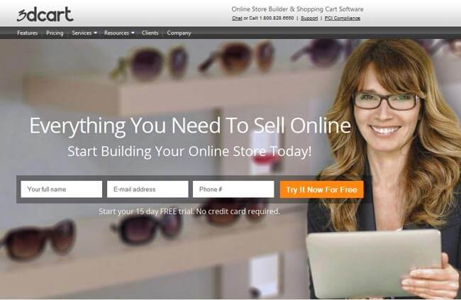 3DCart online stoore builder and shopping cart software
