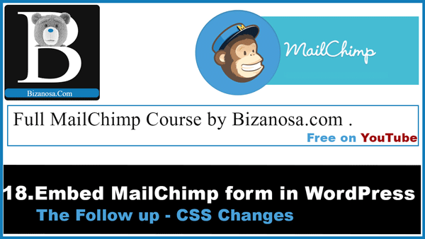 following css for mailchimp form embedded