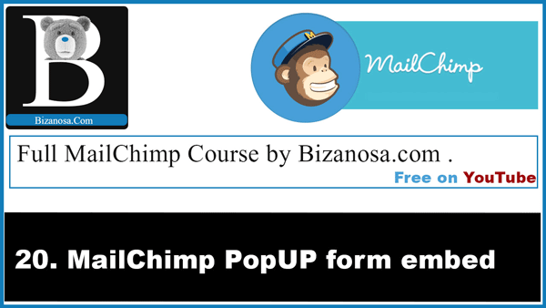 Intro to Mailchimp popup forms