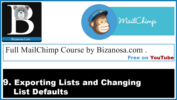 how to export lists in mailchimp
