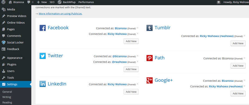 Automatically share posts to Facebook,Twitter,Tumblr,LinkedIn,Path, Google+