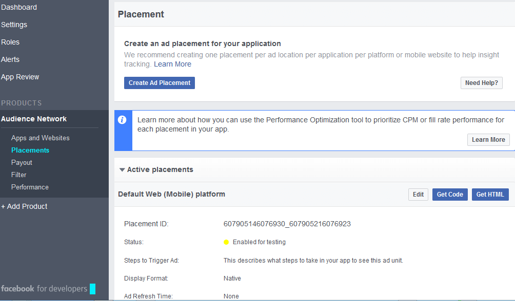 facebook Audience Code placement