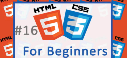 16 CSS Tutorial begins – HTML and CSS Tutorial for Beginners