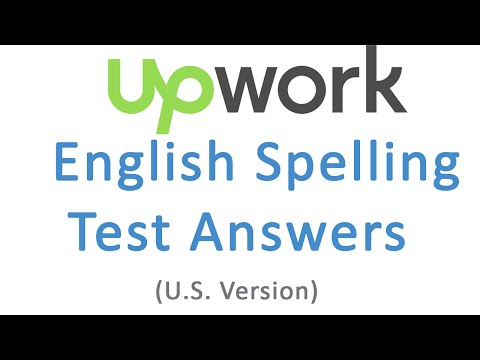 Upwork test Answers English Spelling Test (U.S. Version)