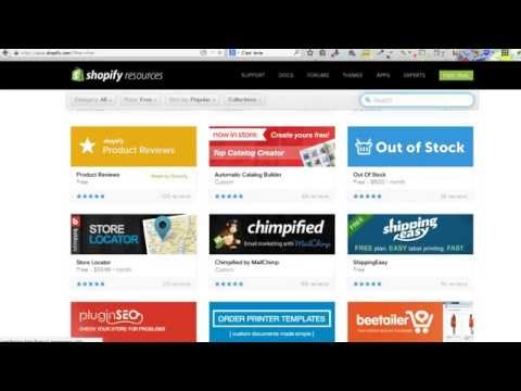 An overview on how to use the Shopify Dashboard – Video