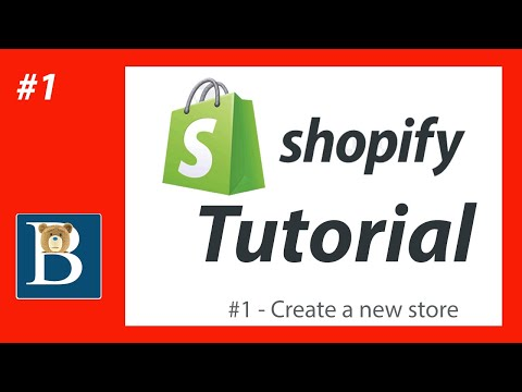 #1 Create a Shopify Store Account  - Free Shopify Tutorial for Beginners
