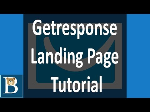 The Best Getresponse Landing Page Tutorial Video