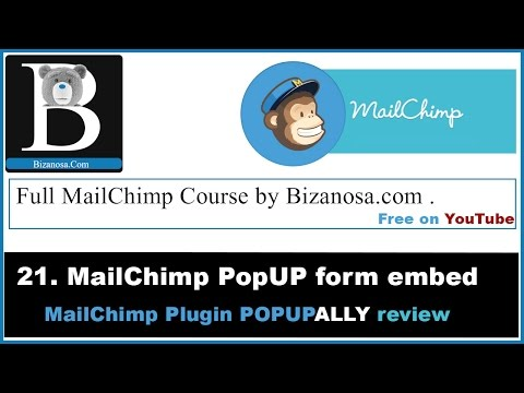 21. Intro to PopupAlly for Mailchimp popups