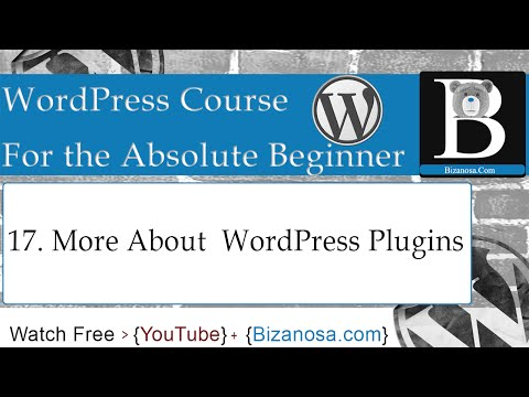 17. More about WordPress plugins
