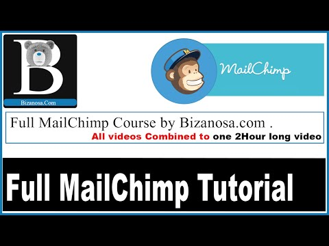 Full length MailChimp course video compilation