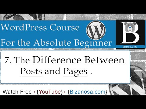 7. Difference between WordPress posts and pages
