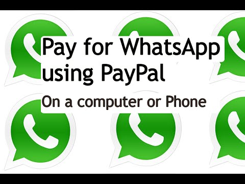 How to pay for whatsapp via paypal {Archived}