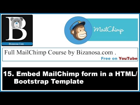 15. Mailchimp embed forms - on HTML Page