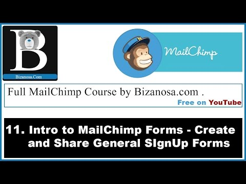 11. Introduction to general forms in MailChimp