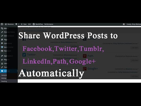 Auto-share posts to Social Media When Published
