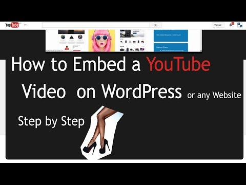 Embed a Youtube video on a WordPress Website