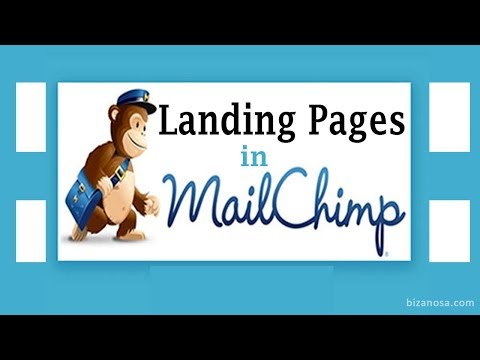 How to create Landing Pages in Mailchimp [Video included]