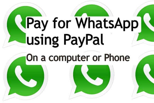 Pay for whatsapp using paypal