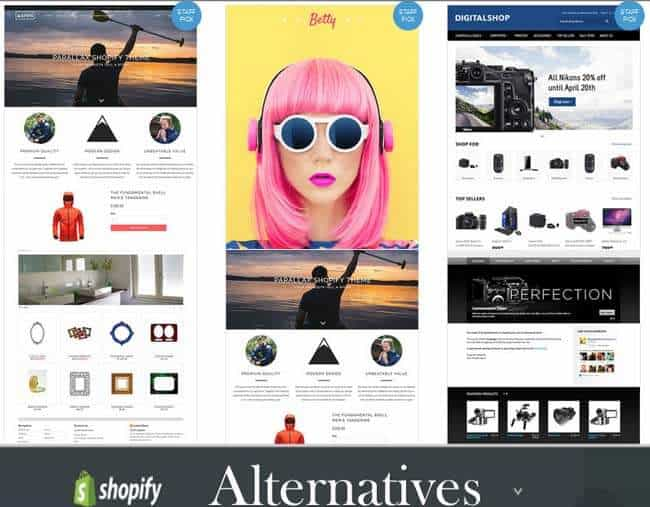 shopify alternatives for hosted ecommerce platforms