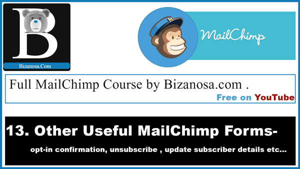 Other Mailchimp forms and emails to learn how to edit