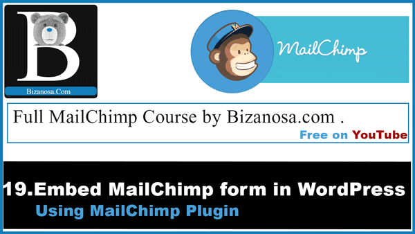 embed a mailchimp signup on wordpress using a plugin
