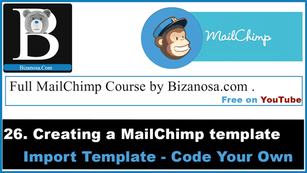 Mailchimp templates via code your own in mailchimp