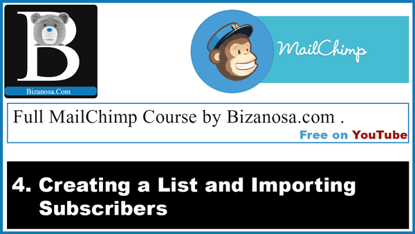 Creating a MailChimp list and importing subscribers