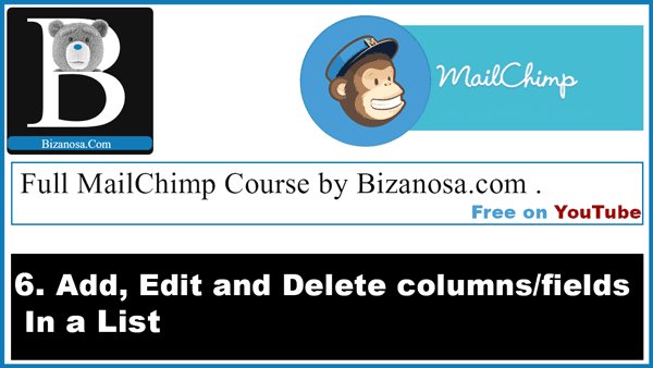 Edit and delete lists in Mailchimp