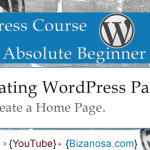 12. WordPress pages - create a HomePage
