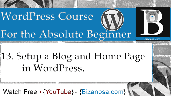 WordPress video tutorials for beginners