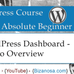4. Overview of the WordPress DashBoard