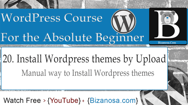 Install WordPress themes manually