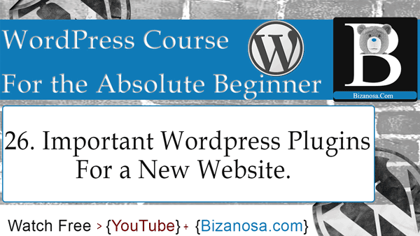 Plugins must have for a new wp website