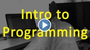 Intro to programming course