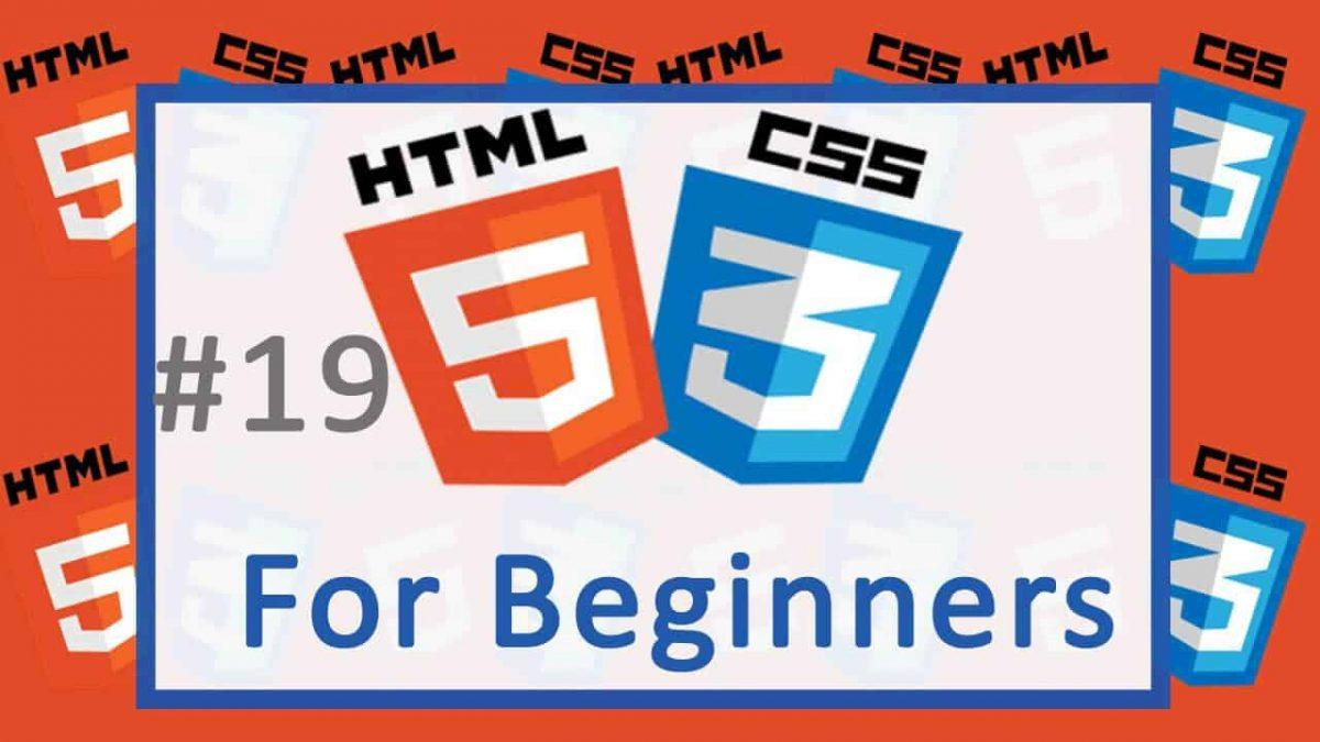 19 Adding background with CSS - HTML and CSS Tutorial