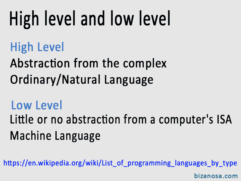 3 High and low level Programming languages