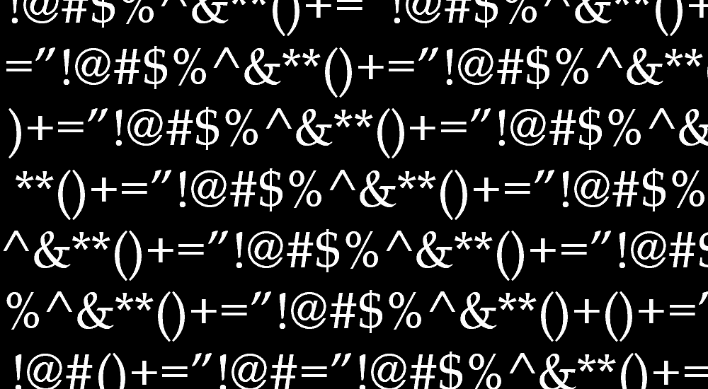 Special Characters and Symbols HTML, CSS and JS representations