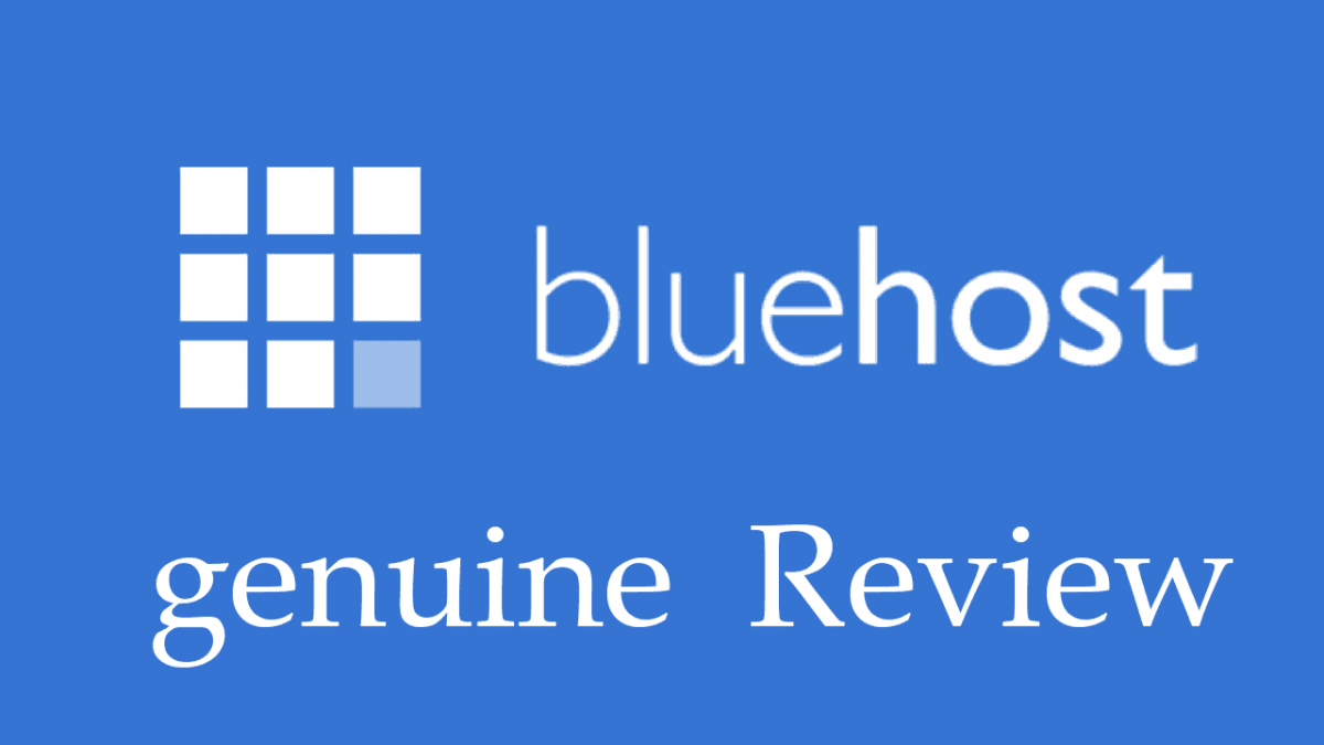 Genuine BLUEHOST REVIEW