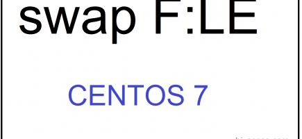 How to create a Swap FILE in CentOS 7